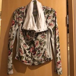 Anthropologie floral button sweater jacket